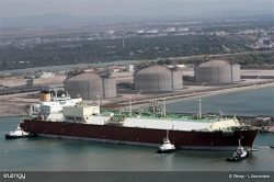 Elengy LNG vessel berthing operation at Fos Cavou