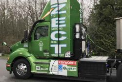 Agility H2 ProCab on Kenworth's Zero Emission Cargo Transport demonstration vehicle