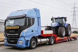 IVECO Stralis NP with onboard agri-tractor