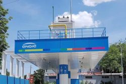ENGIE CNG Station Bucharest with canopy compressor