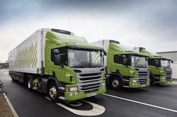 Fleet of Waitrose CNG-fuelled trucks