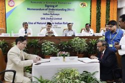 India Ministry Railways and GAIL sign MoU