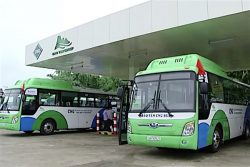 Hanoi CNG Buses refueling