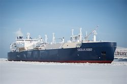 Ice-breaking LNG carrier Christophe de Margerie