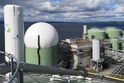 Biogas Upgrading and Liquefaction Plant was installed at the Skogn Papermill, Norway