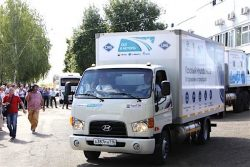 Blue Corridor Rally starts Sep2018 - Hyundai light truck