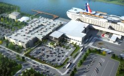 Artist rendition Canaveral Port Authority Terminal 3 Carnival Cruise Line