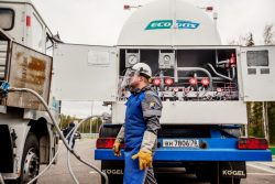 Gas into Motors Rally LNG mobile refueling