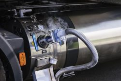 IVECO Stralis NP 460 LNG refuelling close-up