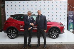 SEAT and Snam_001 SEAT President Luca de Meo (L) and Snam CEO Marco Alvera