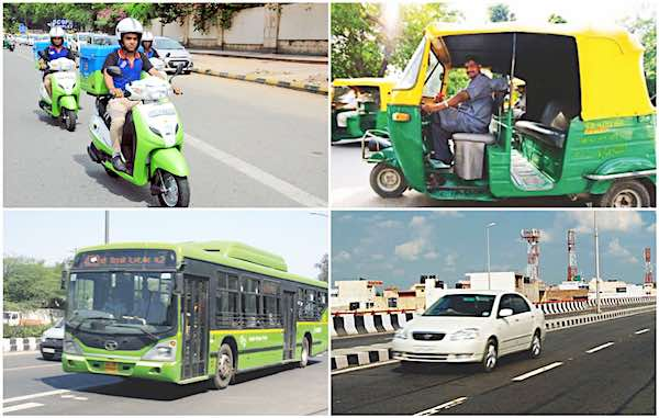 CNG various vehicles used in Gujarat