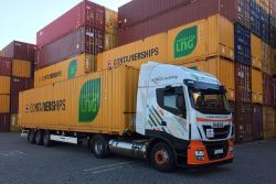 Containerships cooperation with Don Trucking (IVECO truck)