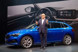 Skoda Scala with Bernhard Maier CEO