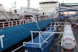 First bunkering of LBG for Fure Vinga