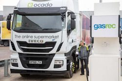 Ocado Natural Gas truck