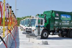 Wastepro MACK CNG Trucks refueling