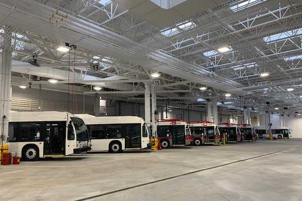 Calgary Transit Stoney Facility bus bay