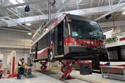 Calgary Transit Stoney Facility bus hoist