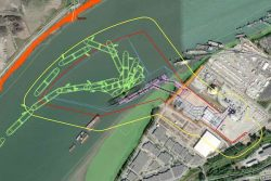 Tilbury Marine Jetty, Delta - jetty layout Mar2019 - red line project boundary