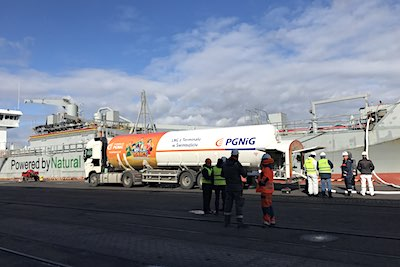 LNG bunkering for MV Ireland