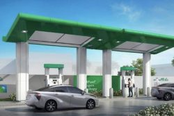 Saudi Arabia FCEV station illustration by Bennett Pump