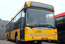 EBS Public Transportation Scania bus green gas