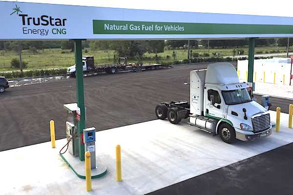 TruStar Energy CNG truck refueling