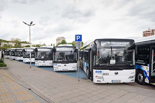 Yutong Euros CNG Buses in Sofia