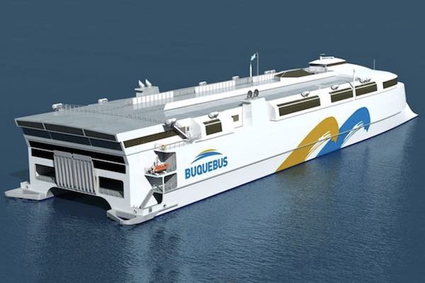 Buquebus world largest aluminium ferry will be LNG-powered