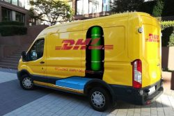 Fuel cell EV panel van for DHL