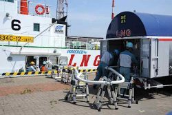 LNG bunkering of Sakigake tugboat