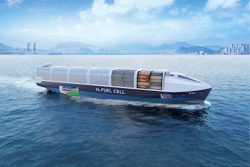 Korea Society - Hydrogen fuel cell (Fuel Cell) ship propulsion concept