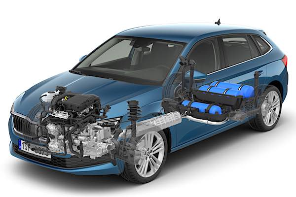 Skoda Scala gtec (gas system view)