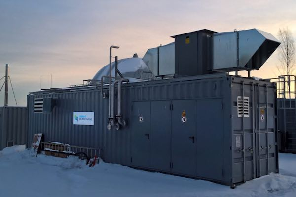 Bright Biomethane biogas upgrading installation in Sweden