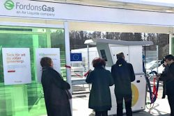 Fordonsgas inauguration station at Mjolby