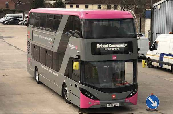 Scania Metrobus for Bristol (BCT) M1 bus