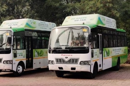 CNG Buses with Agility roof-mounted CNG equipment