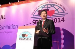 At SIBCON - Minister of Transport Mr Lui Tuck Yew