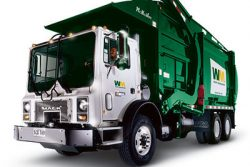 WM Natural Gas Powered Front Loader Truck