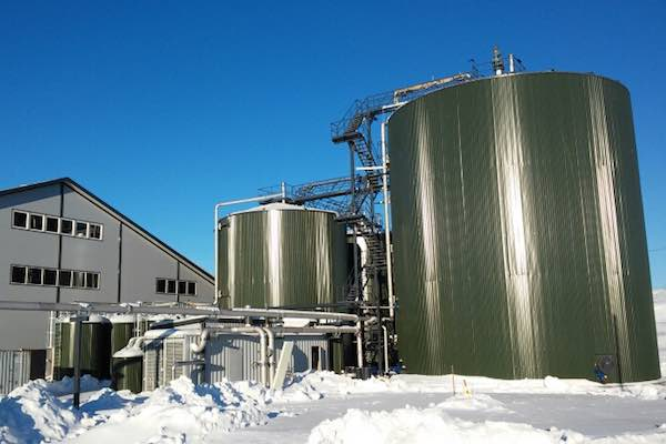 Gasum's Oulu biogas production facility